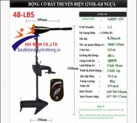 Động Cơ Đẩy Thuyền Bằng Điện 12Vol - 0,8 HP 48-LBS