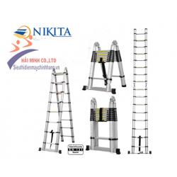 Thang nhôm rút chữ A hiệu NIKITA NKT-AI80 (8m)