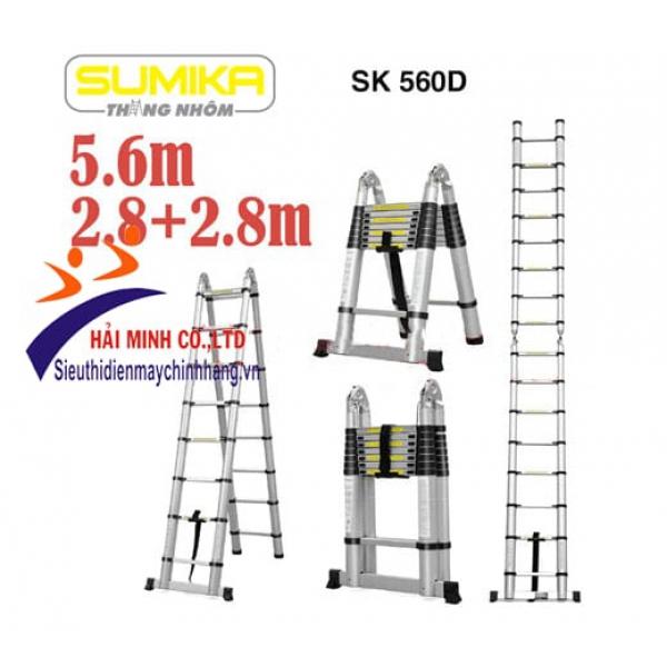 Thang nhôm rút đôi Sumika SK560D