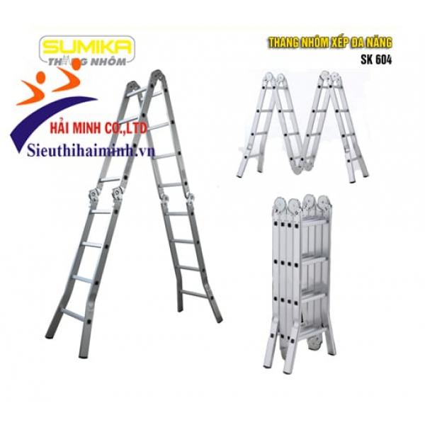 Thang nhôm xếp 4 đoạn Sumika SK604