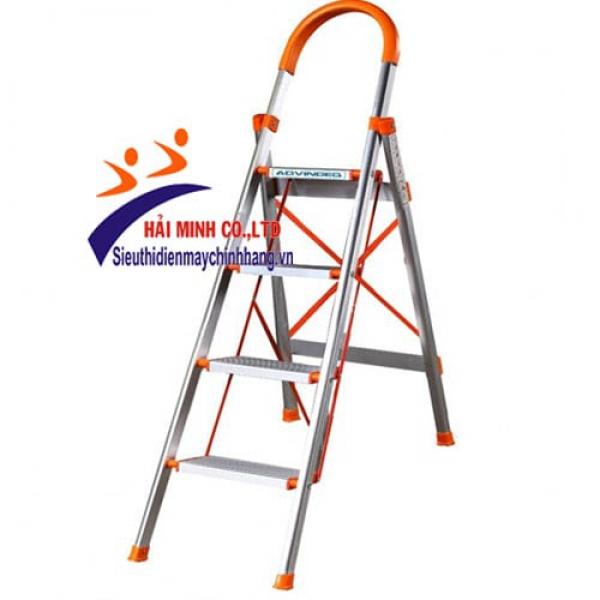 Thang nhôm ghế bản to 4 bậc ADVINDEQ ADS-704