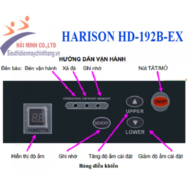 Máy hút ẩm công nghiệp HARISON HD-192B-EX chống nổ