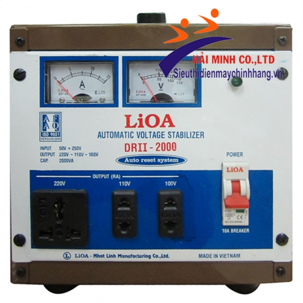 Ổn áp 1 pha LIOA DRII 2000 II 2KVA