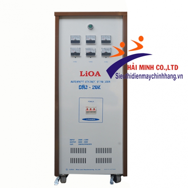 Ổn áp Lioa DR3-20K 3 Pha