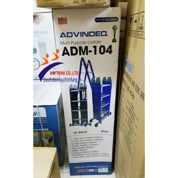 Thang nhôm gấp đa năng 4 đoạn Advindeq ADM104