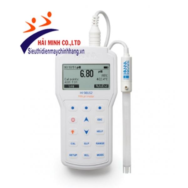 Máy đo pH/Nhiệt độ trong sữa HI98162