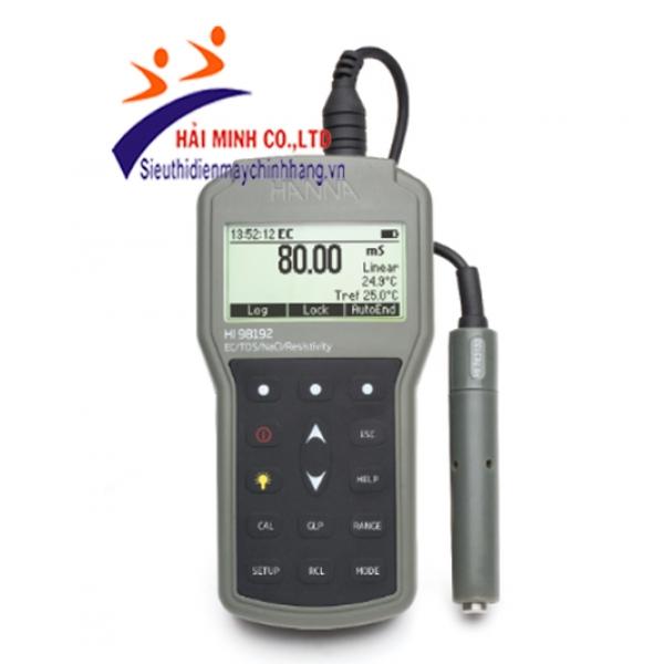 Máy đo EC-TDS-Trở Kháng-Độ Mặn-Nhiệt Độ chống thấm nước HI98192