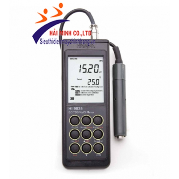 Máy đo EC/TDS/Độ Mặn/Nhiệt Độ cầm tay HI9835
