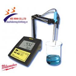 Máy đo pH/mV/ISE/nhiệt độ để bàn Milwaukee MI 160