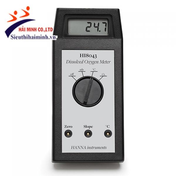 Máy đo oxy hòa tan hiệu chuẩn bằng tay Hanna HI8043