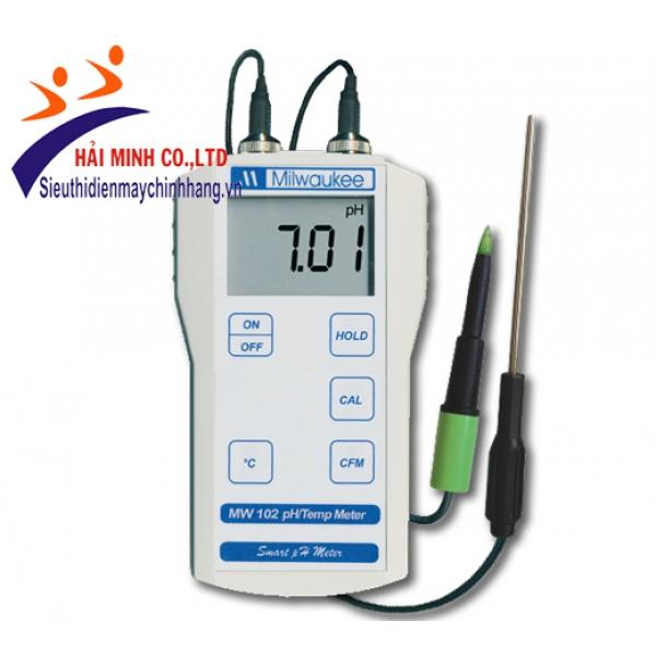 Máy đo pH-nhiệt độ dùng cho thực phẩm Milwaukee MW 102