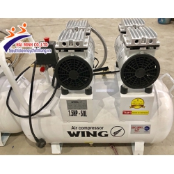 Máy nén khí không dầu giảm âm Wing TW-OF550x2 50L