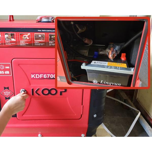 Máy phát điện Diesel siêu cách âm Koop KDF 6700QQ(4.2kw)